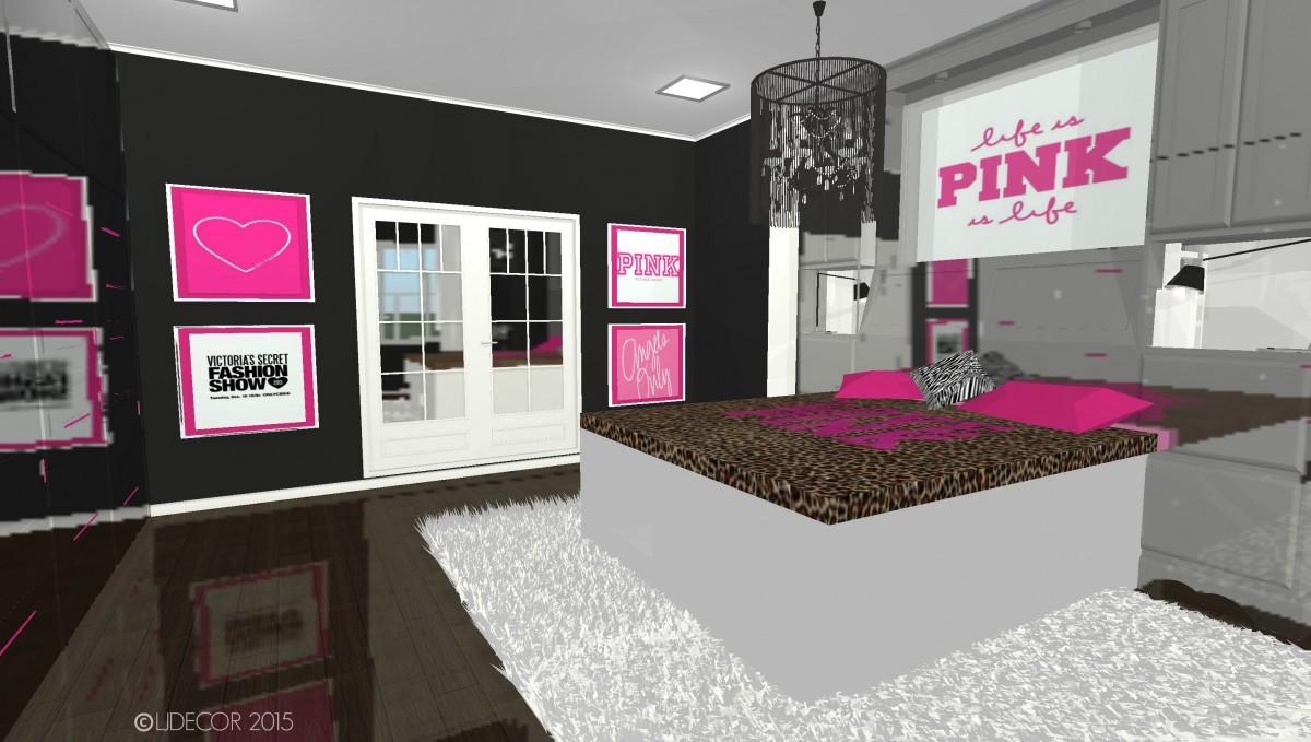 Victoria 39 s secret pink inspired bedroom ljdecor for Victoria secret bathroom ideas